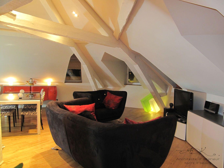 R Novation D Un Loft Sous Les Toits Adk Architecture